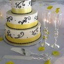 130x130 sq 1275923301155 weddingcakeyellowchampagne