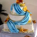 130x130 sq 1277233203840 bluesashseashellweddingcake