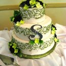 130x130 sq 1306601140176 greenwhiteweddingcake
