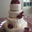 130x130 sq 1306601188707 pleated4tierweddingcake