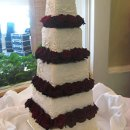 130x130 sq 1306601200989 whiteredroseweddingcake5tier