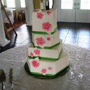 130x130 sq 1306603103098 whitegreenredflowerweddingcake