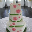 130x130 sq 1306603104864 whiteredflowersweddingcake