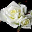 130x130 sq 1278610215384 diamondwhitepointedgardenroseflowerhairclip