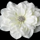 130x130 sq 1278610226556 elegantrhinestonejeweledroyalgerberflowerhairclip