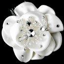 130x130 sq 1278610229603 fabricflowerbridalhaircombwithrhinestonecrystals