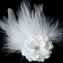 130x130 sq 1278610242196 petiteflowerfeatherfascinatorbridalweddingdayhairclip