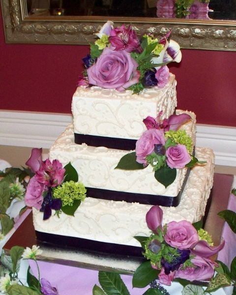 purple and green square wedding cakes burgundy green ivory pink purple garden square 18856