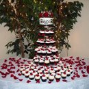 130x130 sq 1345515766360 redrosedamaskcupcakeweddingentiredisplay