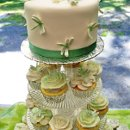 130x130 sq 1345527822531 dragonflycupcakeweddingtoptierandcuppycloseup