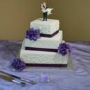 130x130 sq 1368980646559 square offset purple hydrangea wedding cake may 2013