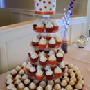 130x130 sq 1369960068954 orange and white polka dot cupcake wedding 2013