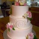 130x130 sq 1371483229195 monogram fresh flower cake june 2013