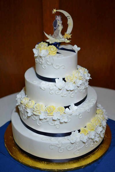 blue and yellow wedding cakes pictures royal icings westfield ma wedding cake 11971