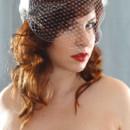 130x130 sq 1415425591503 art deco birdcage veil side 2