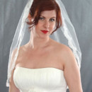 130x130 sq 1416334897622 thin alencon lace veil closer