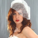 130x130 sq 1416632591709 silver webbed cage veil