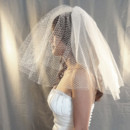 130x130 sq 1425098374232 birdcage blusher tulle veil side over