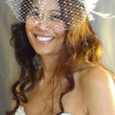 130x130 sq 1425098417242 pearled birdcage veil with silk flower front