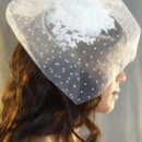 130x130 sq 1425098549815 lace cocktail hat with swiss dot veil