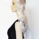 130x130 sq 1465180115208 3d floral silver lined lace mantilla thumb