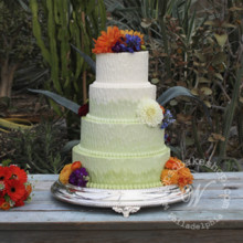 220x220 sq 1404405482987 ombre wedding cake 2 wmkd