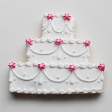 220x220 sq 1404405897139 swag flower wedding cake cookie 3