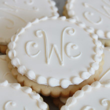 220x220 sq 1404406013420 ivory monogram cookie main