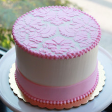 220x220 sq 1404406237496 small damask cake main