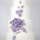 130x130 sq 1476370503288 w9120 lavender ribbon rose wedding cake toronto