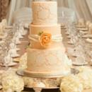 130x130 sq 1476370710259 w9162 peach lace peony wedding cake1