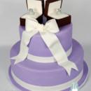 130x130 sq 1476370906719 9 w9128 purple 2 tier engagement cake toronto