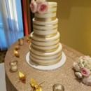 130x130 sq 1490381183519 gold lines wedding cake
