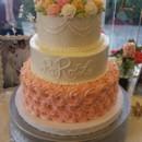 130x130 sq 1490381236592 peach rossetes wedding cake
