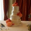 130x130 sq 1490381275770 white and peach flowers wedding cake