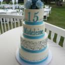 130x130 sq 1490381458407 blue quinceanera cake