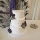 130x130 sq 1490559500273 three tier gold dots wedding cake
