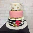 130x130 sq 1490561445126 pink black and goldpolka dot and stripe