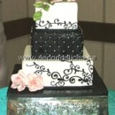 130x130 sq 1455744213958 black white scrolls roses wedding cakes cupcakes b