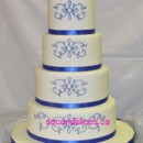 130x130 sq 1455744625931 royal blue scrolls wedding cupcake birthday cake f