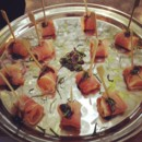 130x130 sq 1405541525474 prosciutto wrapped melon skewers