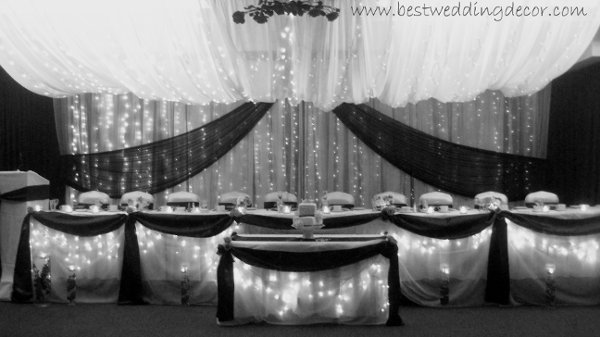 Black Silver White Fall Indoor Reception Spring Summer