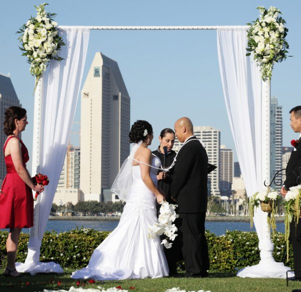Wood Wedding Altar Canopy Rentals Los Angeles Orange: Artistic Arch & Chuppah Rentals By Arc De Belle, Wedding