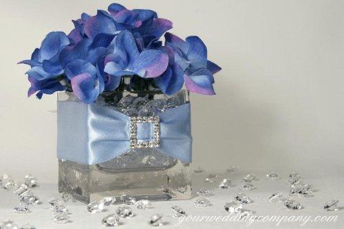 Blue And Purple Hydrangea Wedding Centerpieces: Blue hydrangea ...