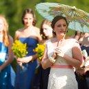 Ceremony with parasol