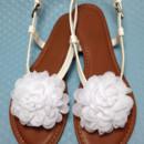 130x130 sq 1426283415411 shoe clips flowers chiffon white 3
