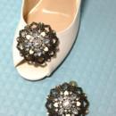 130x130 sq 1426283788247 shoe clips large filigree jeweled bridal