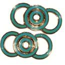 130x130 sq 1426284035211 shoe clips vintage circles turquoise