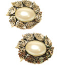 130x130 sq 1426284536317 shoe clips athena ivory pearl 3