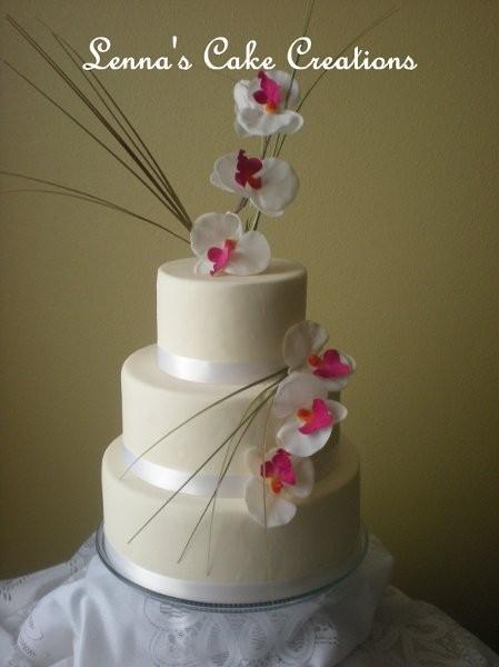 Lenna S Cake Creations Wedding Cake Kissimmee Fl